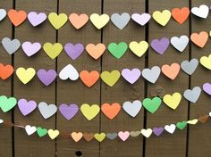 These paper hearts would be great for a children's party