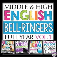 These English bell ringers / warm ups are one of the top 100 best-selling resources on Teachers Pay Teachers!