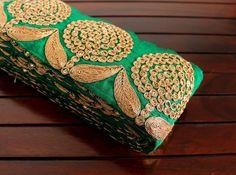 1 Yard-Floral Design Green Ribbon by ArtsyCraftsyShoppe on Etsy