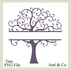 Tree svg, tree of life svg, split tree svg, nature svg, family tree svg, tree illustration, greeting cards, signs, iron on tree, printable Add your names to this design. Examples are shown in the pictures. Welcome,  Thank you for visiting the shop and having a look at the original artwork offered here.  This is an instant download of a SVG file to be used The file is in black and white for you to color with your favorite color.  WHAT YOU WILL RECEIVE  Your svg file will be in a zip folder…