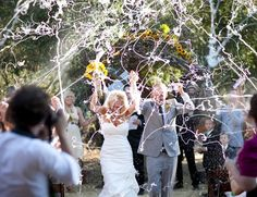 Silly String send off via lea-anne belter - As the bride I would not want this on me!!