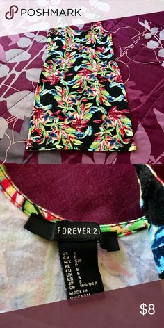 [Forever 21] Floral Bodycon Dress Adorable dress for Spring or Summer! Never worn (only tried on)🌻👒🌤  My lowest markdown reflected in price.  No trades. Thank you.🙂 Forever 21 Dresses