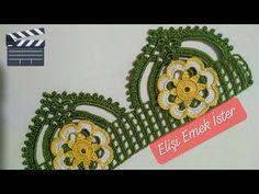 YENİ Tasarım Tığ İşi Havlu Kenarı Modeli❤️Tığ Oyası ile 110.Örnek - YouTube Knitted Poncho, Knitted Shawls, Creative Embroidery, Hand Embroidery, Filet Crochet, Crochet Lace, Mosaic Vase, Crochet Tablecloth, Chrochet