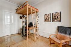 Scandinavian interior design study / guestroom