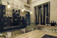 WINE STORES! RED Pif wine restaurant by Aulík Fišer Architekti, Prague