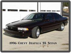 1996 Chevrolet Impala SS 4 DR Sedan Maroon  Refrigerator / Tool Box Magnet