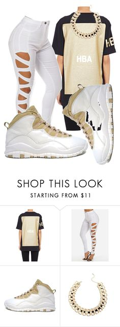 """""""Air Jordan 10 Collection"""" by trillest-boss ❤ liked on Polyvore featuring Hood by Air, Retrò, women's clothing, women's fashion, women, female, woman, misses and juniors"""