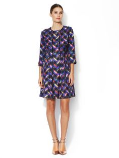 Derby Silk Fit and Flare Dress by Cynthia Rowley