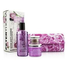 Rose Anti-Aging 3pc Kit: Cleansing Gel 100ml-3.3oz + Gel Mask 50ml-1.7oz + Lip Balm 11g-0.4oz - 3pcs+1bag