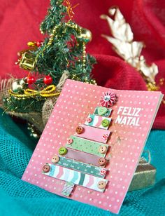 Faça você mesma um cartão de natal personalizado