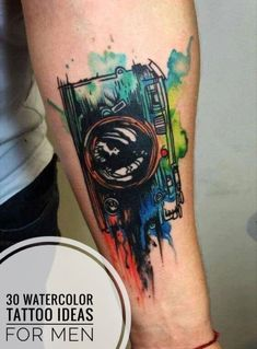 30 Eye-catching Watercolor Tattoo Ideas For Men