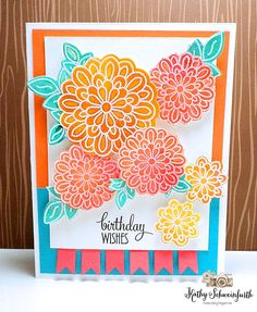 Handmade birthday card by Kathy Schweinfurth using the Surely Goodness stamp set from Verve. #vervestamps