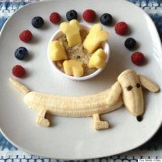 Cute Snacks, Cute Food, Good Food, Yummy Food, Kid Snacks, Animal Snacks, Toddler Meals, Kids Meals, Toddler Food