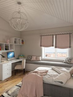 33 bedroom ideas for small rooms 21 - Schlafzimmer Ideen gemütlich - Bedroom Small Room Bedroom, Cozy Bedroom, Bedroom Wall, Bedroom Decor, Light Bedroom, Scandinavian Bedroom, Master Bedroom, Bedroom Ideas For Small Rooms For Girls, Master Suite