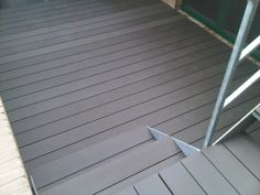 Staricase made with decking wpc Marina Classic Pietra Lavica Outdoor Flooring, Rooftop Terrace, Decking, Gallery, Classic, Outdoor Decor, Home Decor, Style, Derby