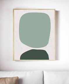 Printable Green Mid Century Modern Print. Mid Century Print. Printable Geometric Print. Abstract Geometric. Printable Mid Century Art Prints. Mid Century Modern Art. Abstract Geometric Prints. Geometric Wall Art. ---FREE SHIPPING in the U.S. /// Available