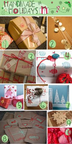 Creative and inexpensive DIY gift wrap ideas and inspiration for wrapping gifts this holiday season. Christmas Gift Wrapping, Christmas Fun, Holiday Fun, Xmas, Creative Gift Wrapping, Creative Gifts, Wrapping Ideas, Wrapping Presents, Diy Gifts