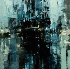 New Oil-Based Cityscapes Set at Dawn and Dusk by Jeremy Mann (Colossal) Abstract City, Dawn And Dusk, City Painting, Colossal Art, Western Art, Urban Landscape, Fine Art Gallery, Urban Art, Art World