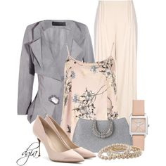 "Woman's fashion ""Donna Karan Mineral crepe jacket"" by dgia on Polyvore"