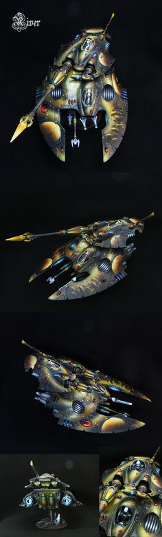 40k - Eldar Fire Prism / Night Spinner by HopeRiver