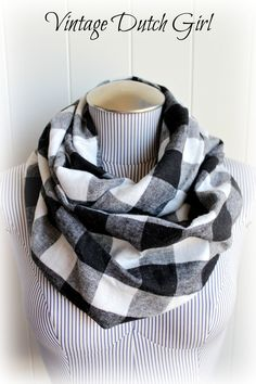 Yet another way to swath myself in flannel . . . Buffalo Plaid Infinity Scarf, $19.99, via Etsy.