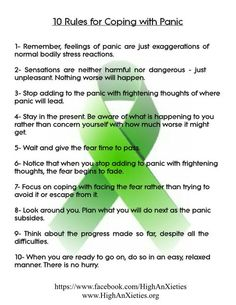 highanxieties:  For those who are learning to deal with panic attacks. <3