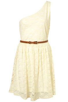 Lace one shoulder Dress by rare