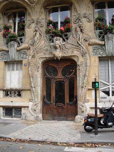Art Nouveau Building at 29 Avenue Rapp Paris France