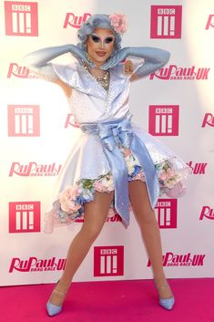 Photo of Blu Hydrangea at RuPaul's Drag Race UK Launch Party Drag Racing Quotes, Drag Queen Costumes, Rupaul Drag Queen, Races Outfit, The Vivienne, Celebrity Red Carpet, Diy Clothes, Race Cars, Bbc