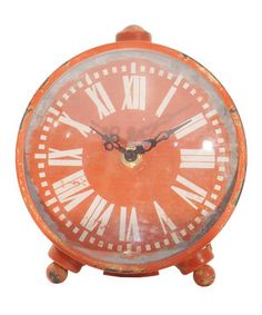 Look what I found on #zulily! Red Table Clock by VIP International #zulilyfinds