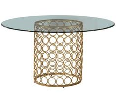 Carnaby Modern Lux Gold Round Dining Table | 55DowningStreet.com