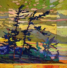 Untitled by Bob Kebic, Oil on Canvas, Painting Canadian Painters, Canadian Artists, Abstract Landscape, Landscape Paintings, Bear Pictures, Impressionist Art, Online Art, New Art, Tom Thomson