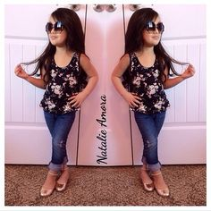 these little kid outfits kill me, like I would wear this to work. I would hire her.