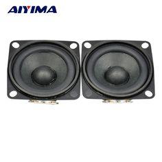 AIYIMA 2pcs 2inch Full Range Speaker Grilled Internal Magnetic PU Edge Stereo Audio Loudspeaker 3W 4ohm NdFeB Magnetic Speaker #Affiliate