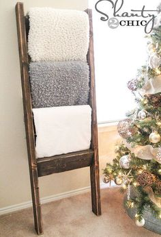 woodworking blanket ladder, bathroom ideas, repurposing upcycling, shelving ideas, small bathroom ideas, woodworking projects