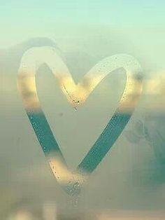 Heart on the mirror