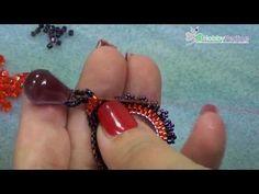 Orecchini Purple Drops   Tutorial - HobbyPerline.com - YouTube
