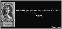 O trabalho perseverante vence todos os obstátulos. (Virgílio)