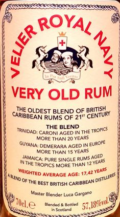 a2c288a6e075e Velier Royal Navy Very Old Rum - Review Coleslaw