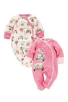 Car Sleepsuits Two Pack by Next. I love that they have car designs for girls!!! It's about time....