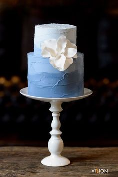 Blue Wedding Cakes — Nelle Cakes