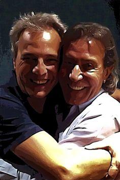 Con mi querido amigo @AlbertHammond en el estudio...