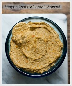 Easy Pepper Cashew Lentil Spread!