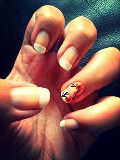 My pretty flower french manicure design
