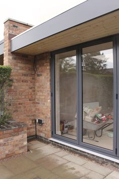 Door to wall detail of single storey extension - House Plans, Home Plan Designs, Floor Plans and Blueprints Garage Extension, House Extension Design, Extension Ideas, Bungalow Extensions, House Extensions, Roof Design, Exterior Design, Garage Design, Wall Design