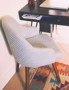 Love the design and pattern of west elm saddle chair
