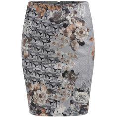 SheIn(sheinside) Multicolor Slim Floral Bodycon Skirt