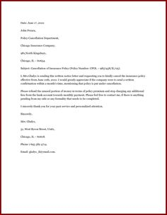 Service cancellation letter - Writing a letter of ...