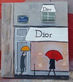 The Dior boutique in Paris