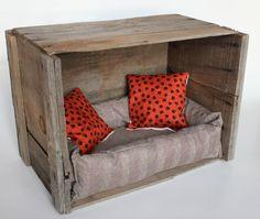 Vintage repurposed pet bed by kateblais on Etsy, $60.00